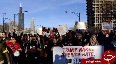 زد و خورد انتخاباتی در محل سخنرانی ترامپ+ تصاویر