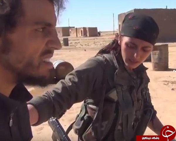 برخورد زنان مبارز کرد با اسیران داعشی+عکس و فیلم