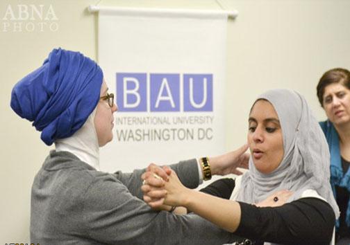 آموزش دفاع شخصی به زنان مسلمان در آمریکا + عکس