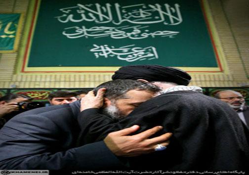 عکس: مداح اهل بیت در کنار رهبر انقلاب