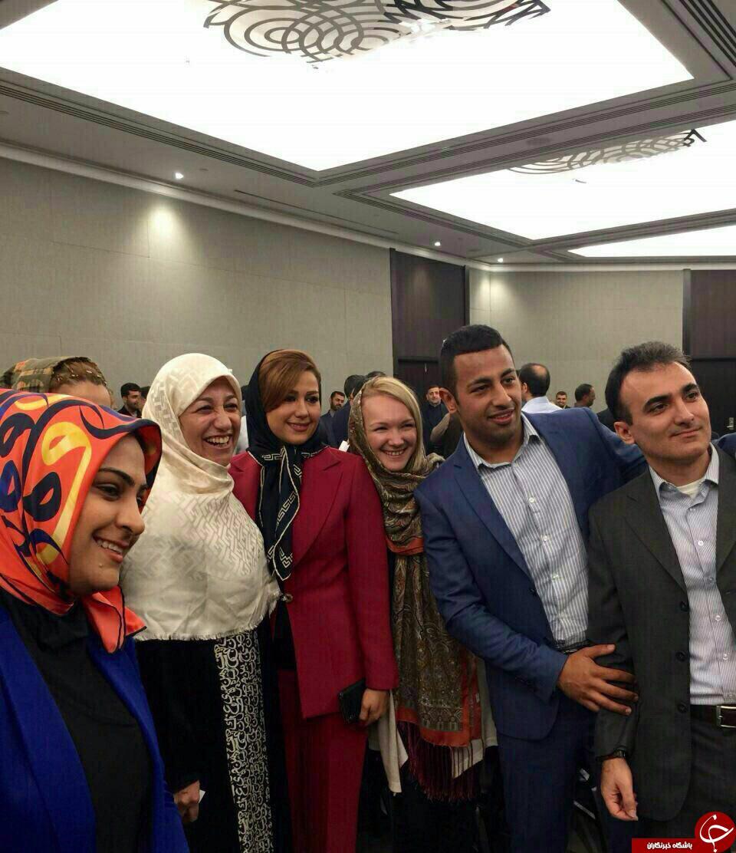 همسر ظریف در بین ایرانیان مقیم نیوزلند +عکس