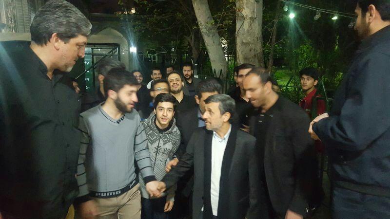 احمدی نژاد از مسجد مجد تا حسینیه امام خمینی (ره) + تصاویر