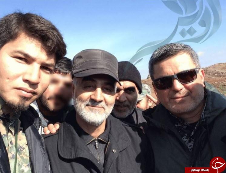 سلفی شهدای مدافع حرم با سردار سلیمانی +عکس