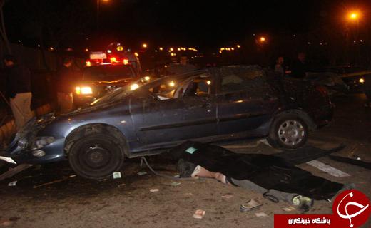 واژگونی خودرو قربانی گرفت+ تصاویر