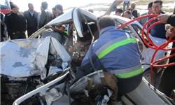 تصادف خونین پراید و پیکان/ 5 نفر راهی بیمارستان شدند+ تصاویر