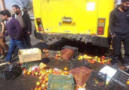 مرگ راننده نیسان در تصادف با اتوبوس شرکت واحد