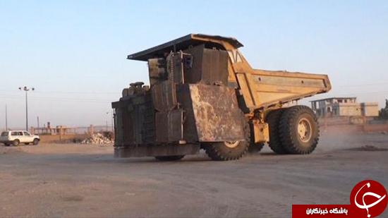 استفاده داعش از کامیون های مخوف انفجاری+ تصاویر