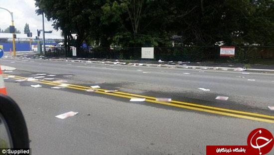 خیابانی در نیوزیلند که از تصاویر مستهجن پوشانده شد!+ تصاویر