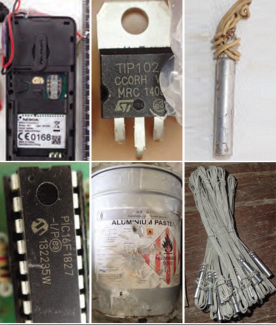 داعش چگونه با تجهیزات کوچک بمب می سازد؟/رنگ مو و گوشی نوکیا یا بمب دست ساز + تصاویر