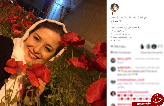 سلفی مهراوه شریفی نیا و آلودگی هوای اهواز +عکس