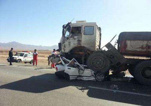 تصادف مرگبار در محور طبس به یزد + تصاویر