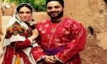 بابک جهانبخش و همسرش در لباس محلی ابیانه+ عکس