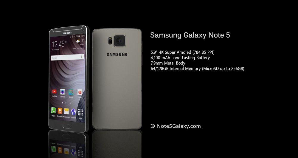 لو رفتن اطلاعاتی جدید در رابطه با Galaxy Note 5 + تصاویر مفهومی