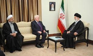 رییس جمهوری عراق با رهبر معظم انقلاب دیدار کرد