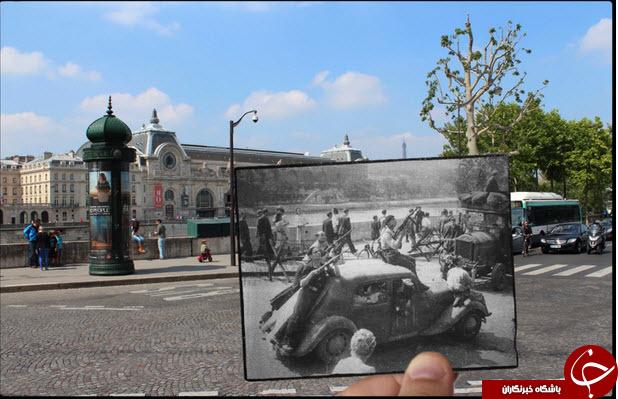 عکس های جالب پاریس قبل و بعد از جنگ جهانی