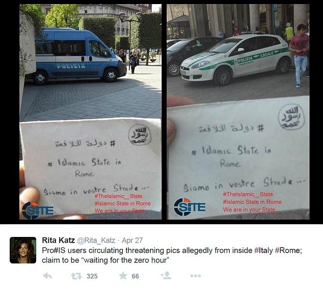 داعش در خیابانهای ایتالیا + عکس