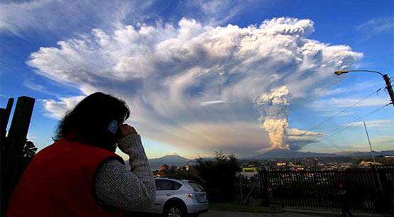 آتش فشان شیلی فوران کرد +عکس