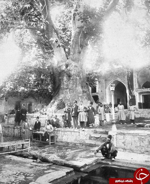 عکس قدیمی از امامزاده صالح (ع) در دوره قاجاریه