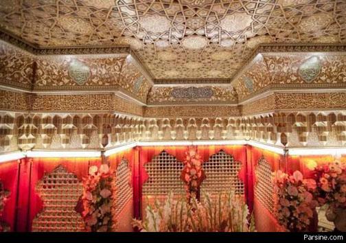 نمایی از داخل ضریح امام حسین (ع)+عکس