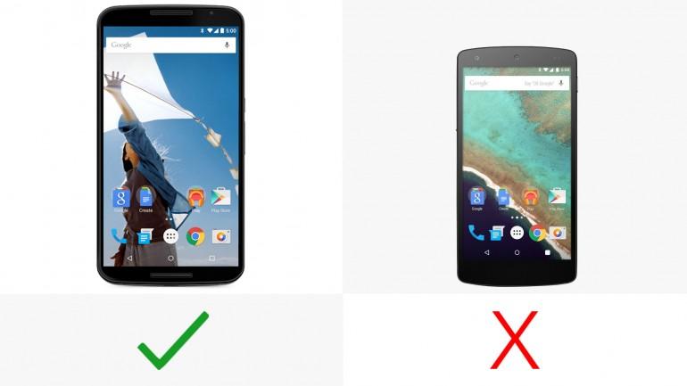 مقایسه بی طرفانه Nexus 6 و Nexus 5