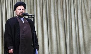 آغاز سخنرانی حجتالاسلام سیدحسن خمینی در مرقد مطهر امام(ره)