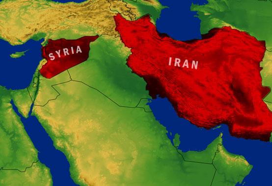 نتیجه تصویری برای ایران سوریه نقشه