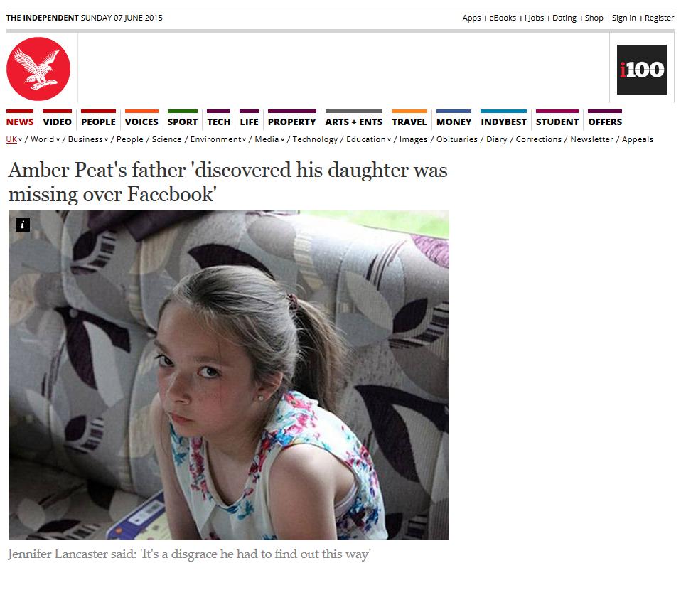 اطلاع گم شدن فرزند در فیس بوک + عکس