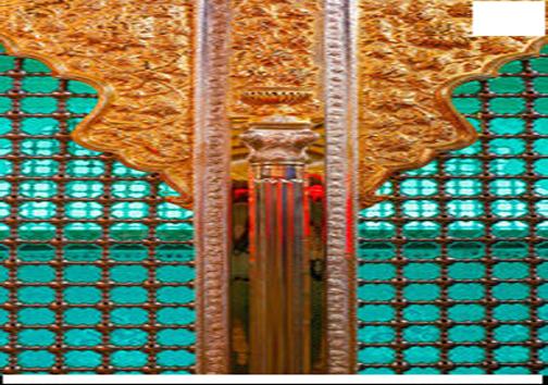 رونمایی از ضریح نمادین امام حسین(ع) و حضرت عباس(ع)