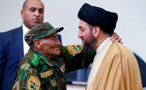تقدیر از پیرترین دشمن داعش + تصاویر