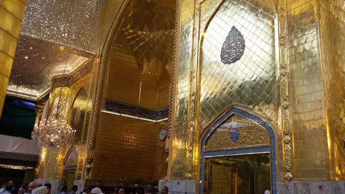 پرده برداری از ایوان طلای حرم حضرت عباس(ع) + عکس