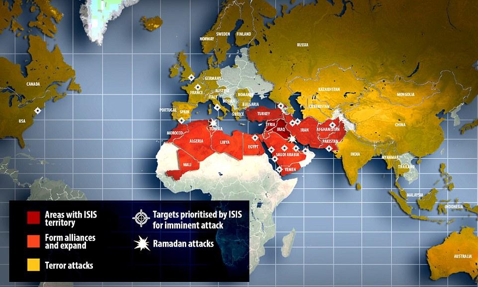 داعش قصد دارد چه کشورهایی را تصرف کند؟ + نقشه