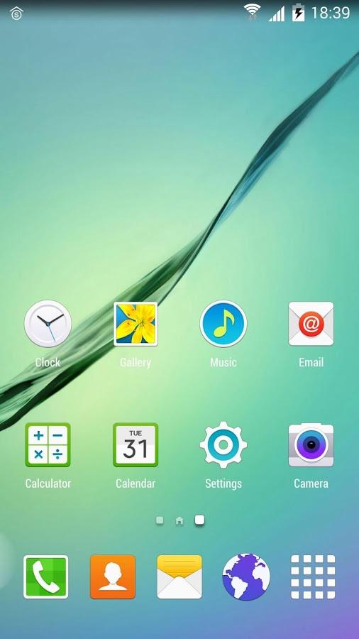 لانچر جدید Galaxy S6 + دانلود