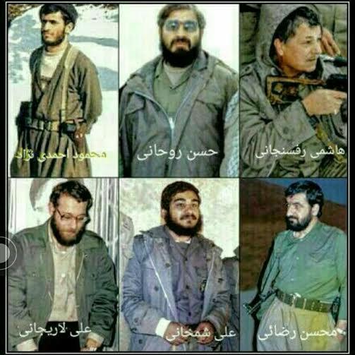 سیاسیون ایرانی در لباس نظامی/ عکس
