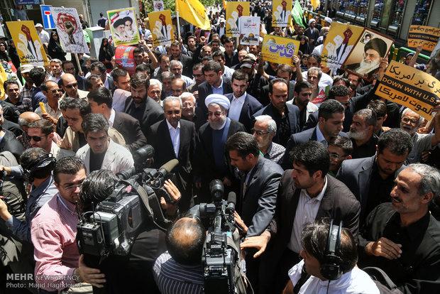بازتاب حضور مردم ایران در تظاهرات روز جهانی قدس در رسانههای خارجی