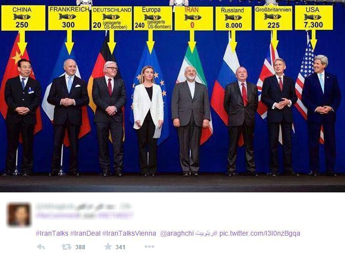 تقسیم بمب های هسته ای بین مذاکره کنندگان +تصویر