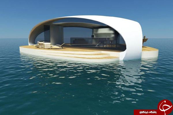 خانه ای ساخته شده بر سطح دریا +تصاویر