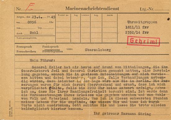 تلگرافی که منجر به خود کشی هیتلر شد!!!