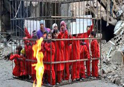 داعش ۹ کودک را