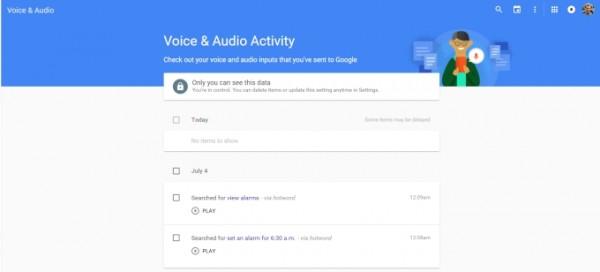 تاریخچه ی جستجوی صوتی گوگل را پاک کنید