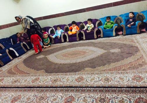 همسر روحانی و همسران چند وزیر در شیرخوارگاه حضرت رقیه + عکس