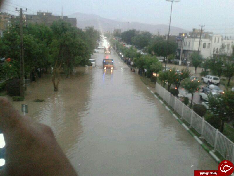 قایق سواری در خیابان های سقز+عکس