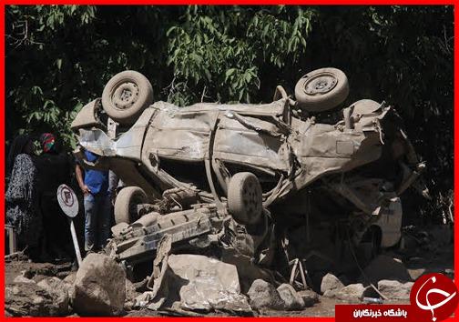 بیش 6 کشته در اثر وقع سیل در جاده چالوس+تصاویر