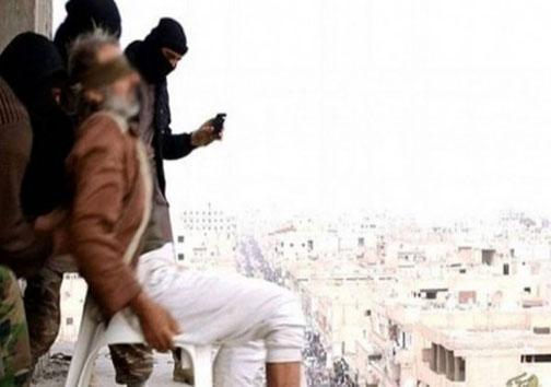 داعش،4 نفر را با پرتاب از ساختمان اعدام کرد+تصاویر