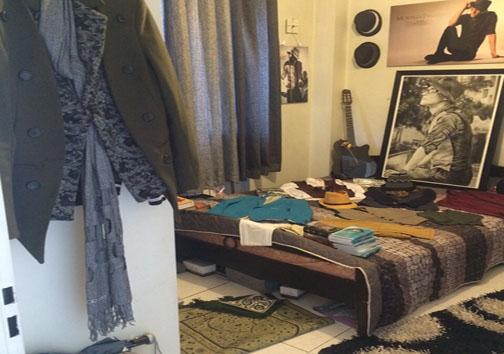 اتاق مرتضی پاشایی و یادگاری هایش
