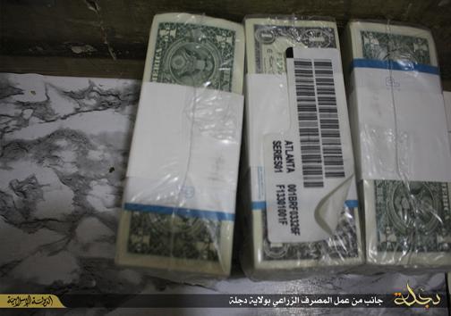 دسته چک داعش!+تصاویر