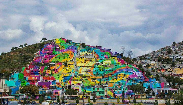 رنگ ها به داد مکزیک رسیدند+عکس