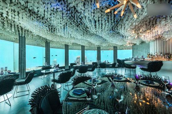 رستورانی متفاوت و دل انگیز در زیر آب + عکس