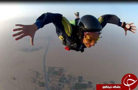 معرفی تنها دختر ایرانی که متخصص سقوط آزاد است