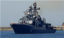 ناوگروه نیروی دریایی روسیه در منطقه چهارم دریایی ارتش پهلو میگیرد
