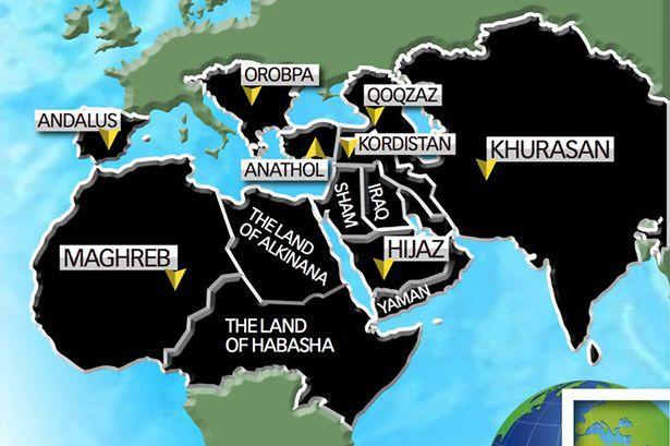 نقشه شوم قلمرو داعش برای سال 2020 + عکس